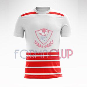 2018 Münih Kırmızı/Beyaz Halı Saha Forması + Şort