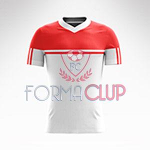 R Asist Şortlu Halı Saha Forma Takımı Beyaz/Kırmızı